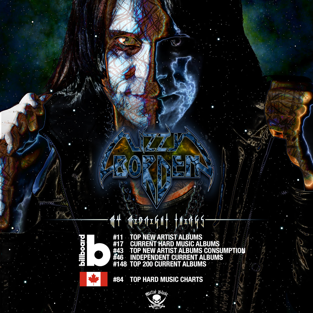 Lizzy Borden Top Charts