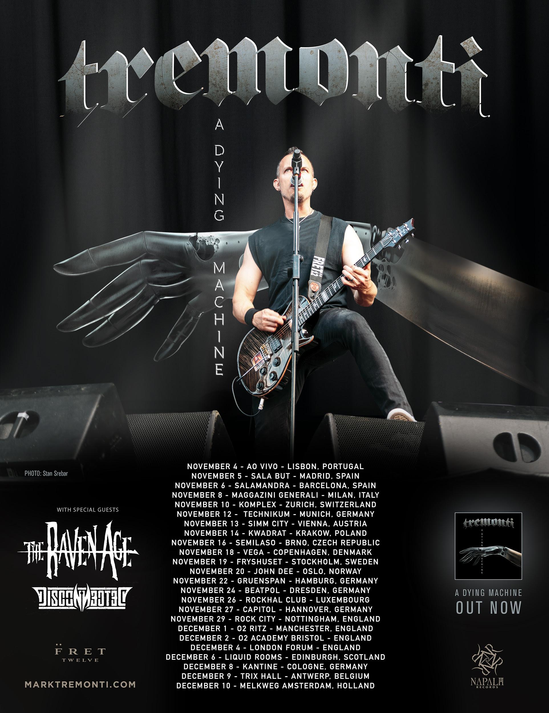 Tremonti - Tour dates