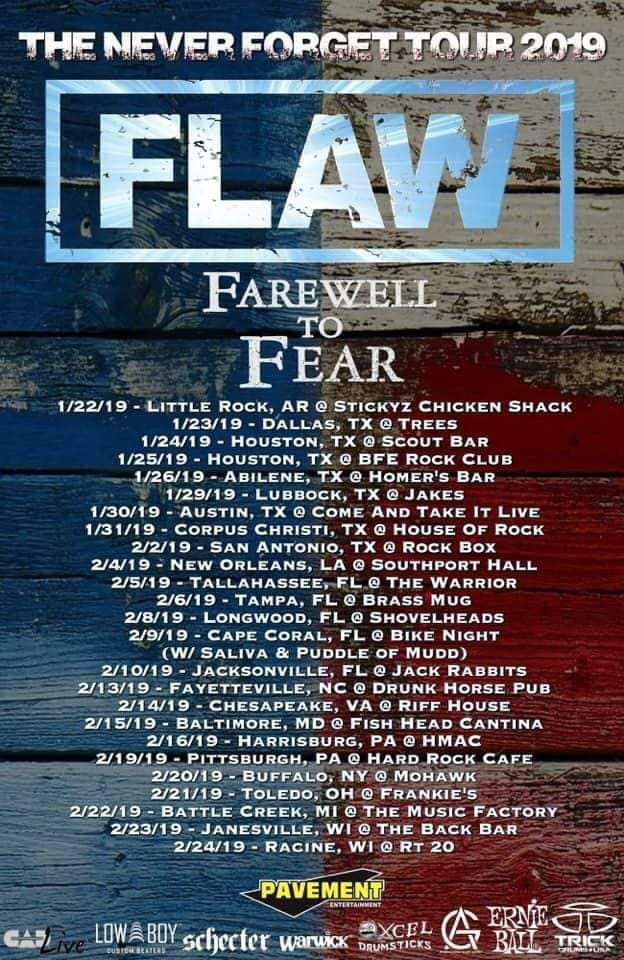 Farewell To Fear - Tour Dates