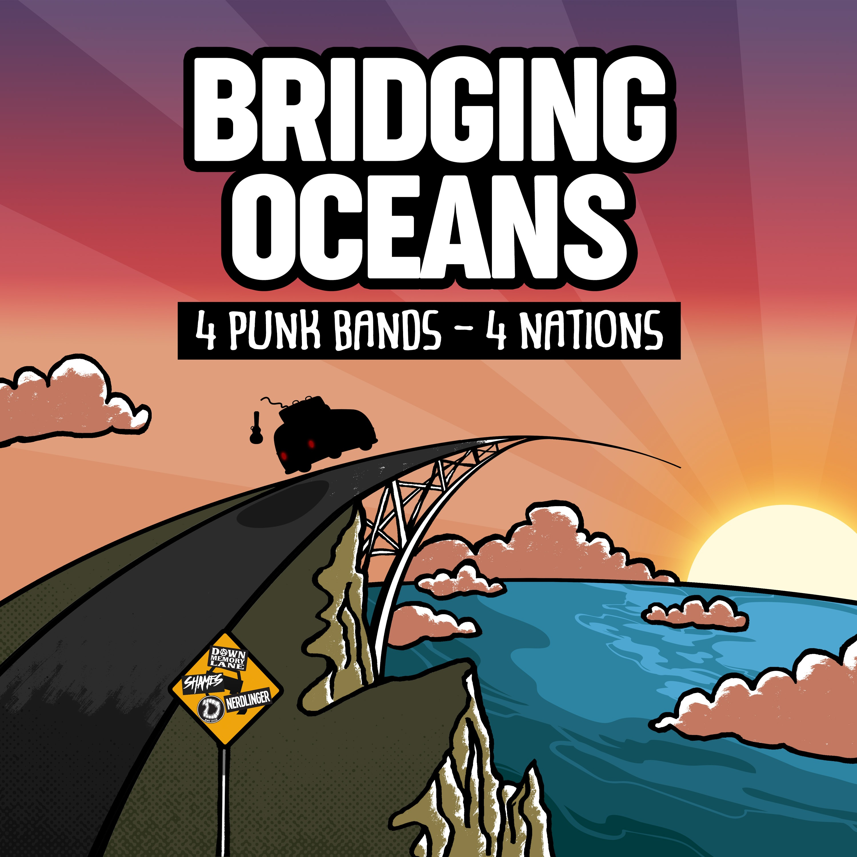 "Bare Teeth - ""Bridging Oceans"" - Split Artwork"