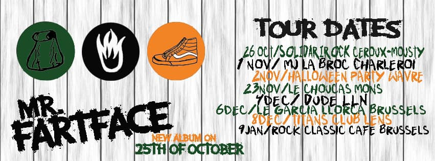Mr Fartface live dates